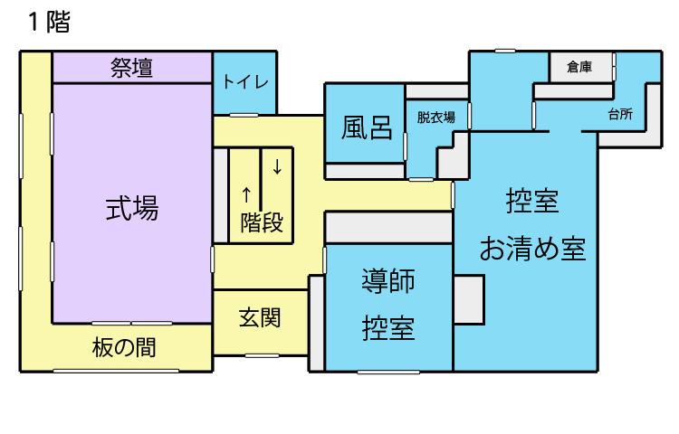 家族葬施設 見取図1階